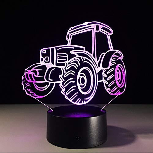 Hlfymx 3D Dekor Licht Motor Auto Traktor Form Usb Charge Touch Schalter Lampe 7Kinder NachtlichtDrop Ship Neuheit Geschenke