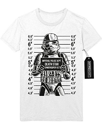T-Shirt Star Wars Imperial Police Dept. Death Star Stormtrooper 1977 C980011 Weiß
