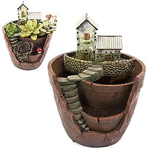 Xueliee Creative plantes Pot de fleurs Fleur plantes artificielles DIY à nourriture décoré avec mini à suspendre Fée…