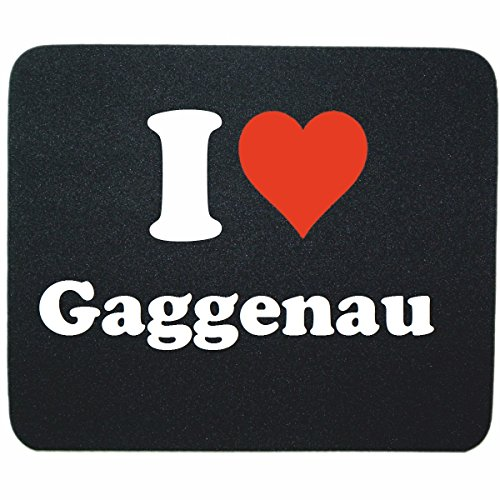 "Price comparison product image Exclusive Gift Idea: Mouse Pad ""I Love Gaggenau"" in Black, a Great gift that comes from the heart - Non-slip mousepad- Christmas Gift"