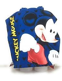 MICKEY Capa de baño–Poncho de baño (microfibra 100% poliéster–110x 55cm Mouse–Disney