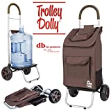 dbest products Chariot Dolly, Marron Courses provisions Pliable Chariot
