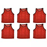Bluedot Trading pour homme 6Sports Pinnies Gilet, Homme, 6 Sports Pinnies, Red