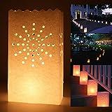20 St. Sonne Motive Kerzentüte Lichttüte Luminarias Candlebag Laterne Garten Windlicht Gartenlicht Tischdeko Hochzeit Deko