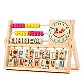 TININNA Kinder Multifunktions Bunte Perlen Hölzern Rechenrahmen Mathematik Abacus Soroban