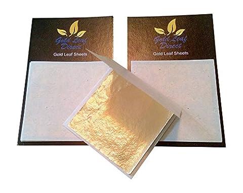 Gold Leaf Direct 20Blatt von 46mm x 45mm Gold Leaf