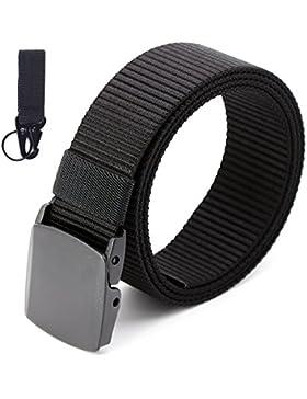 MINHER Cintura Tela Uomo Casual Fibbia In Plastica Fibbia Automatica No Metallo Nylon Imitazione Nastro Cintura...