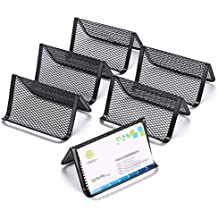 Sumnacon 6pcs Presentoir De Carte Porte Cartes Visite En Fer Support Telephonique Pour