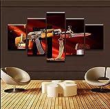 kuanmais Waffen Ak-47 Modell 5 Stücke Leinwand Malerei Wandkunst Wohnzimmer Hd Druck Bild Malerei Moderne Wohnkultur Bild Kun