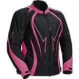 Damen motorrad jacke Frauen waterproof Cordura Textil Motorrad Jacke Rosa Gr. XXL