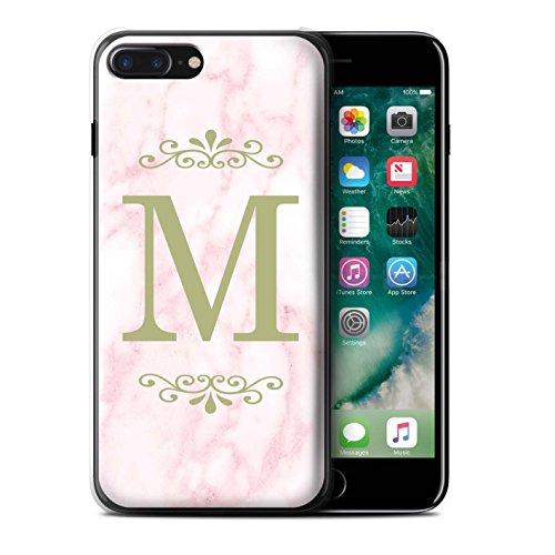 Personalisiert Rosa Marmor Mode Hülle für Apple iPhone 6S / Gerahmt Silber Single Design / Initiale/Name/Text Schutzhülle/Case/Etui Gerahmt Gold Single