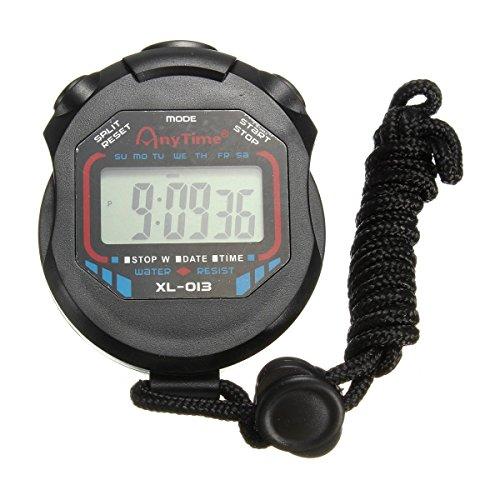 Sport Cronometro, digitale a cristalli liquidi portatile del cronografo Contatore timer Cronometro Allarme — OUTERDO