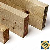 behandelt Holz 15,2x 5,1cm | 150mm x 47mm x (3, 1,2Meter (122cm))