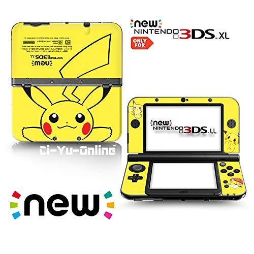 Ci-Yu-Online Vinyl-Aufkleber für Nintendo 3DS XL / LL Konsolensystem, Motiv: Pikachu, limitierte Auflage, Gelb
