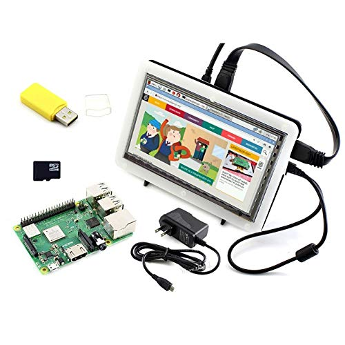 YKDY Waveshare Raspberry Pi 3 Modell B+ Entwicklungs-Kit (Typ F) Gigabit Ethernet-802.11 B/g/n Bluetooth