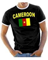 Coole-Fun-T-Shirts Men's Ringer T-Shirt with Cameroon Design