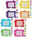 Unbekannt XL Wandtattoo / Sticker - Fotorahmen als Puzzle Herzen Blumen für Bilder - Wandsticker Aufkleber Bilderpuzzle Bilderrahmen selbstklebend