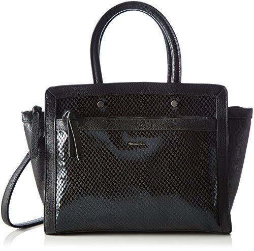 Tamaris Damen Jimmy Handbag Henkeltaschen, Schwarz (Black Comb 098), 38x24x10 cm