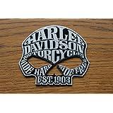 "'Texto Emblema Logo Pegatina Skull ""Harley Davidson efecto relieve brillante M1001"