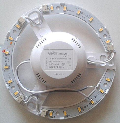 takestop CIRCOLINA LED 12W 1100LUME PLAFONIERA Disco Neon Anello Circolare