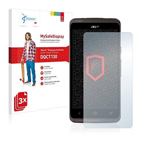 Vikuiti DQCT130 Acer Liquid Z410 Plus Schutzfolie von 3M [3er Set] kristallklare Bildschirmschutzfolie Folie Bildschirmfolie