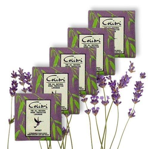 Hangerworld 10 Sachets 5cm x 5cm Désodorisants Antimites Répulsifs Naturels Parfum Lavande
