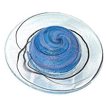 Glass Eye Studio Ringe des Saturn Mundgeblasenes Glas Briefbeschwerer -