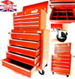 PROGEN TOOL CHEST TOP CABINET TOP BOX AND ROLLCAB BOX BALL BEARING SLIDES WITH LOCKABLE CABINET LARGE WITH FREE DIVIDERS AND ANTI SLIP MATS (MODEL1)