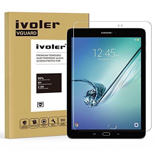 Samsung Galaxy Tab S2 9.7'' (SM-T810 / SM-T815) / S3 9.7'' (SM-T820 / SM-T825) Protector de Pantalla, iVoler Protector de Pantalla de Vidrio Templado Cristal Protector para Samsung Galaxy Tab S2 9.7'' (SM-T810 / SM-T815) / S3 9.7'' (SM-T820 / SM-T825) -Dureza de Grado 9H, Espesor 0,30 mm, 2.5D Round Edge-[Ultra-trasparente] [Anti-golpe] [Ajuste Perfecto] [No hay Burbujas]- Garantía Incondicional de 18 Meses
