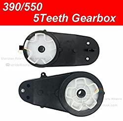 550/390 Gearbox 5 Teeth Gearbox with Electric Motor Gear Box with Drive Motor for Ride On Toys Power wheels Accessor