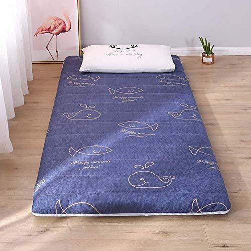 Matratzenauflage japanische Tatami Matratze, Dicke Weiche, Gesteppte Taillierte Futon Matratze aus Baumwolle mit Füllung für die Gästebettauflage, Bett Matratze, Matratze,C,120x200cm