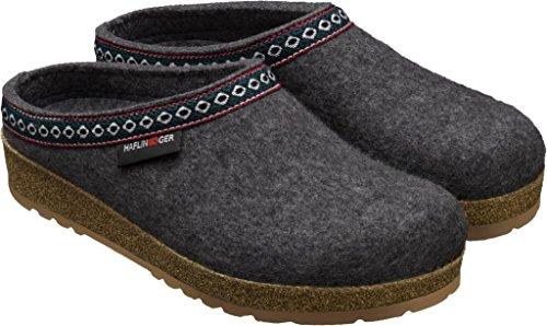 Haflinger Franzl 711001, Pantofole donna Anthrazit (grigio)