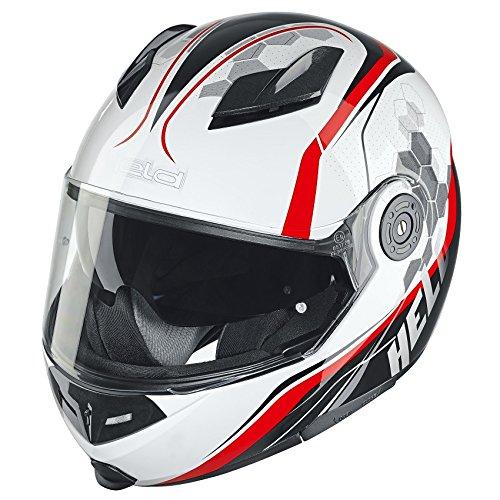 Preisvergleich Produktbild Held Travel-Champ Motorradhelm XL (61 / 62) Weiß / Rot