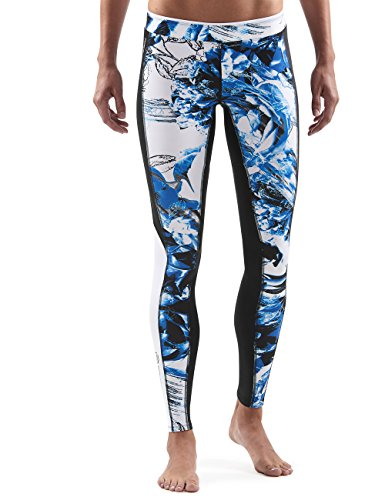 skins-a200-womens-long-tights-multi-coloured-azure-sizel