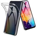 TOPACE Hülle für Samsung Galaxy A50, Ultra Schlank Softschale Silikon TPU Stoßfest Handyhülle Schutzhülle Anti-Fingerabdruck Shock Absorption Cover für Samsung Galaxy A50 (Transparent)