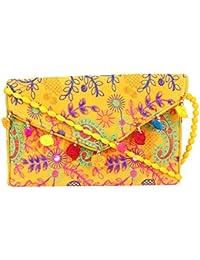 Rajasthani Jaipuri Bohemian Art Sling Bag Foldover Purse - B07FN11ZFK