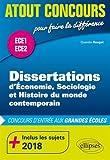 Dissertations d'ESH - Prépas ECE1 et ECE2 - inclus les sujets 2018