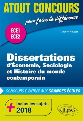 Dissertations d'ESH - prépas ECE1 et ECE2 - inclus les sujets 2018 par Quentin Rouget