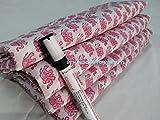 #8: Handicraftofpinkcity 2.5 yards Indian Hand Block Print Fabric Sanganeri Handmade Handmade Cotton Fabric 2.5 Meter Indigo Blue Fabric