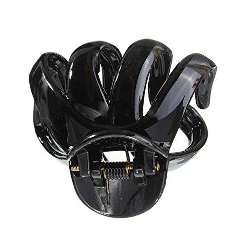 SODIAL(R)Plastique Octopussy papillon Flaxen epingle a Cheveux Noir