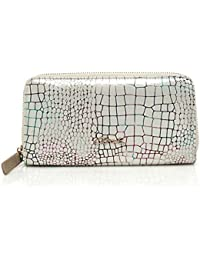 AXEL brillante diseño de patrón de tela BLANC PORTE MONNAIE de piel ...
