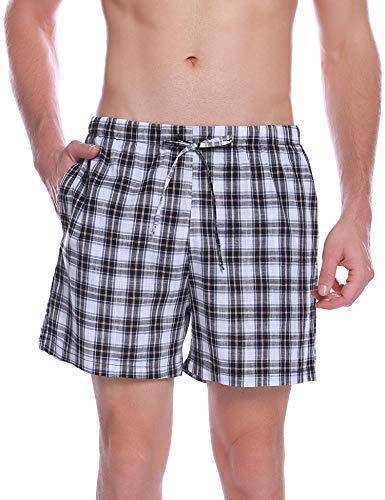 Hawiton Pantalon Pijama Corto Hombre Verano 100% Algodon