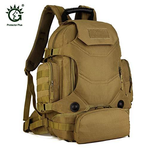 3e86f8f0f924b fggfgjg 40L Multifunctional Military Tactical Backpack Rucksack Hiking  Camping Bag Wolf Brown