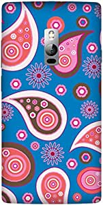 Blue Paisley Printed Back Cover Case For ONE PLUS 2