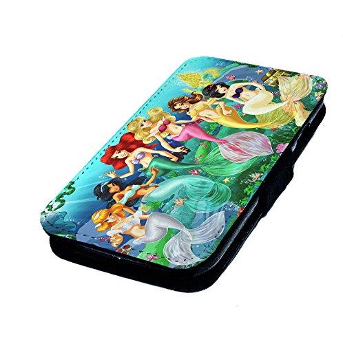 gfrau Prinzessinen. Kunstleder Flip-Telefon Fall Cover. Disney Art inspiriert ()