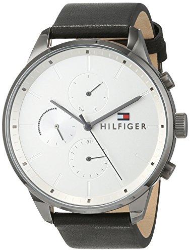 Tommy Hilfiger Unisex Multi Zifferblatt Quarz Uhr mit Leder Armband 1791489