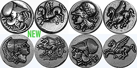 Athena, Goddess of Wisdom and Pegasus, 4 Coin set.