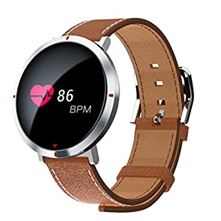 Fuibo Smartwatch, S2 Herzfrequenz Bluetooth Smart Watch Pulsmesser Armband Intelligente Armbanduhr Sport Fitness Tracker Armband (Silber)