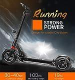 FREEGO Elektro-Roller Zweirad-Bluetooth Kick-Scooter mit Kilometerstand 30 bis 40 km für Erwachsene und Kinder LED-Leic