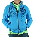 Camp David Sweat Shirt Arctic Surf I arcticblue Sweatjacket with Hood CCB-1808-3750 (XXL)